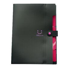 A4 Paper Expanding File Folder Pockets Accordion Document Organizer ,Black M5W5