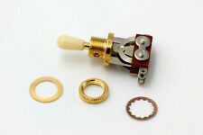 """3 Way """"Gold"""" Switchcraft style Short fits Epiphone/Imp. Made in Japan"""