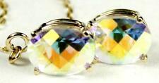 14K Threader Earrings, Mercury Mist Topaz, E003