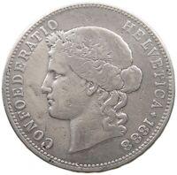 SWITZERLAND 5 FRANCS 1888 RARE #t123 015