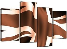 Large Brown Canvas Wall Art Pictures 130cm Wide Set XL Prints 4011