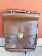 vintage ancien SACOCHE sac CARTABLE en CUIR LEATHER BAG Ledertasche LEDER tasche
