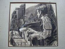 Artwork Drawing by Isa Barnett 1949 Famous artist