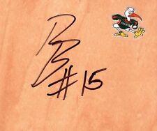 Miami Hurricanes Rion Brown Autographed FloorBoard COA
