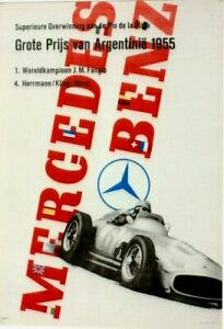 Original vintage poster MERCEDES BENZ ARGENTINA GP F1 1955 WINNER
