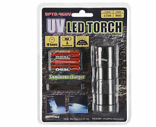 12-LED UV-Flash Torch  SPLC95UV  - UV Lampe mit Aluminiumgehäuse