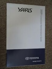 2009 TOYOTA YARIS SCHEDULED MAINTENANCE OWNERS MANUAL