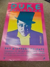 DUKE ELLINGTON 90TH BIRTHDAY ANNIVERSARY CONCERT POSTER BY PETER MAX