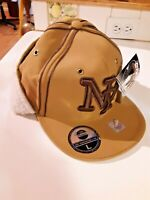 NEW City Hunter NY Baseball HAT Fitted LG Brown Cap Embroidered with ear flaps