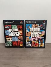 Playstation 2 Grand Theft Auto Iii And Vice City Gta Both Mint