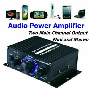12V HiFi Power Amplifier Mini Audio Digital Stereo Car Home FM AMP