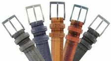 Genuine Leather Belt with Alligator, Lizard and Snake Skin Embossing