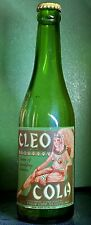 RARE CLEO COLA BOTTLE W/ Bottle Cap, Cleo Syrup Corp., ST. LOUIS, MO. c1935