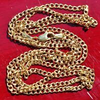 """10k yellow gold necklace 18.0"""" Cuban link chain vintage 1.9gr"""