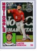 Carter Kieboom 2019 Topps Update 1984 Topps 5x7 #84-14 /49 Nationals