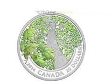 20 $dólares Canadian Maple canopy Spring splendour arce canadá 1 Oz plata 2014