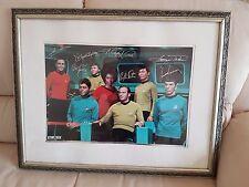 Star Trek TOS Crew Autogramm / Autograph Poster (7) Shatner / Nimoy / Kelley