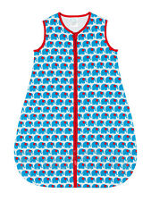 Sweet Baby Lilly 100% Cotton Blue Elephant Baby Sleeping Bag TOG 1 - Select Age