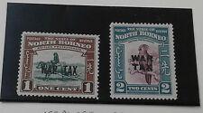 North Borneo 1941 Opt. WAR TAX (2v) ~ Mint