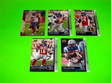 5 MONTREAL ALOUETTES UPPER DECK CFL FOOTBALL CARDS 38 52 70 82 95  #-1