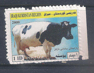 Iraq - Kurdistan  2000 Dairy cow 1dinar   MNH