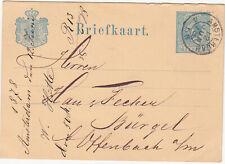 Netherlands: Postcard: Amsterdam to Offenbach, 12 June 1878