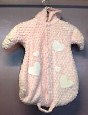 Baby Girl CHENILLE Hooded Bundle SOFT 0-6 Mos 1 pc  Winter JM Sack Mittens Pink