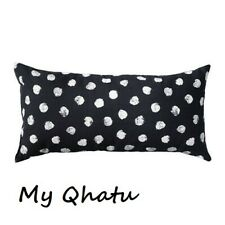 "NEW IKEA Pillow Cushion 12"" x 24"" Black White Skaggort"