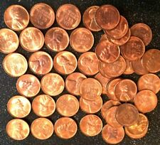 1955-D Lincoln Wheat Cent Red Gem BU Roll