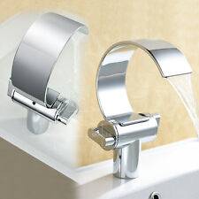 Bath Vanity Sink Waterfall Faucet Water Tap Brass Chrome Daul Knobs New Modern