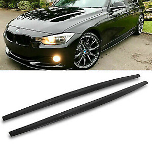 BMW F30 F31 4dr M performance matte black style side skirts add on extensions