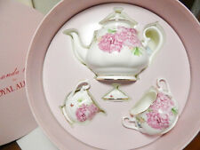 Royal Albert Miranda Kerr FRIENDSHIP 3 Pc TEA SET TEAPOT - NEW IN BOX!