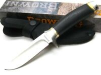 Browning BR077 Black Bush Craft Ignite Serrated Fixed Blade Knife + Sheath