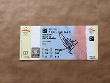 Barcelona Olympics Tennis 1992 Ticket Signed Jordi Arrese