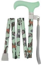 Handbag Sized Folding Walking Stick by Charles Buyers - Cats