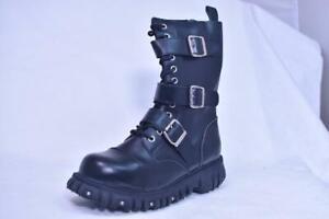 TUK 12 EYE 3 BUCKLE CAP TOE FASHION BOOTS # A6055 UNISEX 5 7 EUR 38 NOS FETISH
