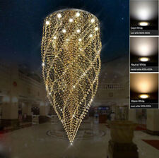 Modern LED Chandelier Crystal Light Ceiling Villa Stairs Lighting Fixtures #6610