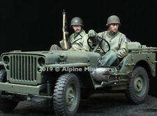 Alpine Miniatures 35262, Segunda Guerra Mundial nosotros Jeep Tripulación Set (2 figuras), escala 1:35