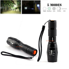 2x 1000-2000 Lumen 5 Mode LED Flashlight Zoom Focus Lamp Light Torch