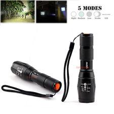 2x 1000-2000 Lumen 5 Mode LED Flashlight Zoom Focus Lamp Light Torch
