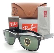 NEW Rayban New Wayfarer sunglasses RB2132 6052 58 Black Transparent G15 GENUINE
