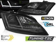 Coppia fari ant TUNING DRL DAYLINE XENON AUDI TT 8J 06-14 neri freccia dinamica