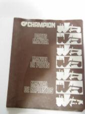 Champion Cummins 700 Series  Parts Manual 1984 Model With Service Bulletin