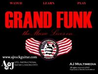 Custom Guitar Lessons, Learn Grand Funk - DVD Video