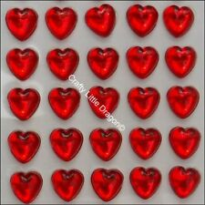 50 Golden Nest Acrylic Rhinestone Heart Cabochon 20mm #22052