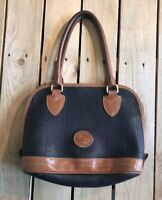 Vintage Dooney & Bourke Handbag/Purse Black/Brown Leather A7