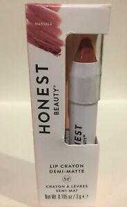 Honest Beauty Lip Crayon-Demi-Matte, Marsara 3g/0.105oz New