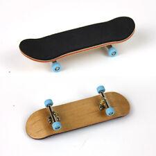 Complete Wooden Fingerboard Finger Skate Board Grit Box Foam Tape Maple Wood HI