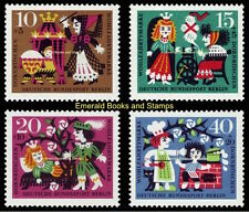 EBS West Berlin 1964 Grimms' Fairy Tales Sleeping Beauty Michel 237-240 MNH**
