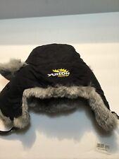 New listing Nwt Yukon Hats Unisex Adult Medium Hat Black Winter Weather Rabbit (1665)